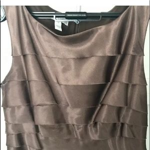 London Times Sleeveless Brown Dress Size 6
